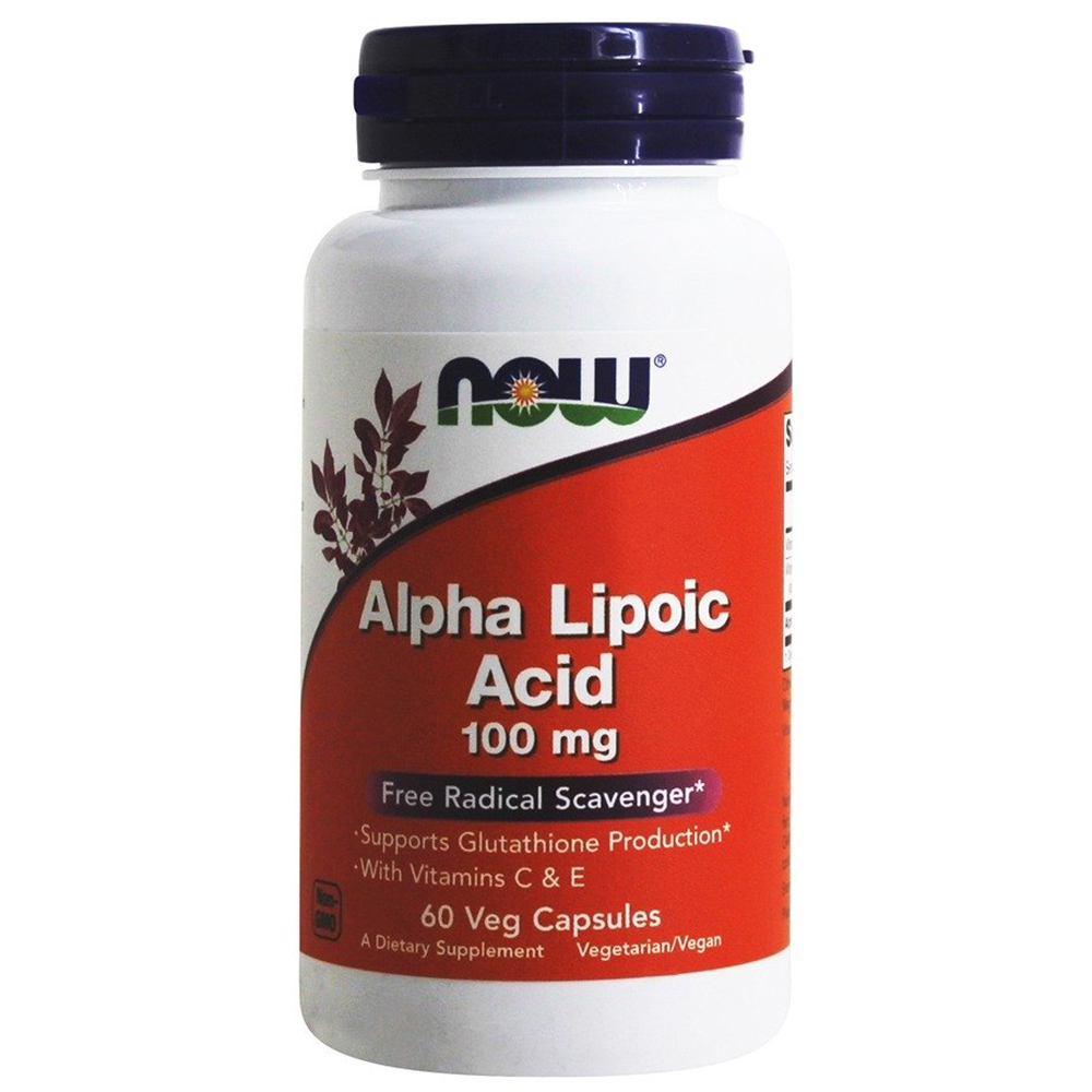 Антиоксидант NOW Alpha Lipoic Acid 100 mg 60 vcaps