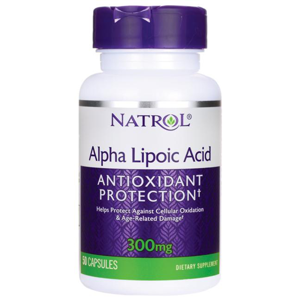 Антиоксидант Natrol Alpha Lipoic Acid 300 mg