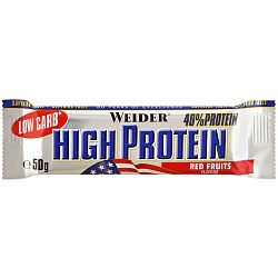 Weider 40% Low Carb High Protein bar 50 g Красные ягоды