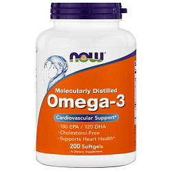 NOW Omega 3 1000 mg 200 softgels