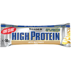Weider 40% Low Carb High Protein bar 50 g Латте макиато