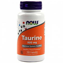 NOW Taurine 500 mg 100 caps