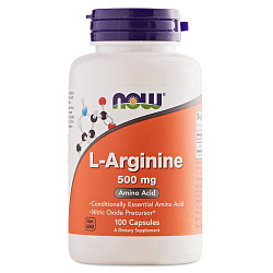 NOW Arginine 500 mg 100 caps