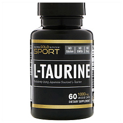 California Gold Nutririon L-Taurine 1000 mg 60 vcaps