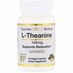 California Gold Nutrition L-Theanine 100 mg 30 vcaps