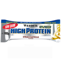 Weider 40% Low Carb High Protein bar 100 g Страчателла