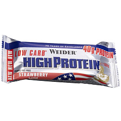 Weider 40% Low Carb High Protein bar 100 g Клубника