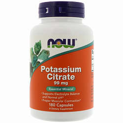 NOW Potassium Citrate 180 caps