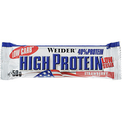Weider 40% Low Carb High Protein bar 50 g Клубника