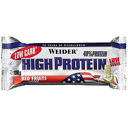 Weider 40% Low Carb High Protein bar 100 g Красные ягоды
